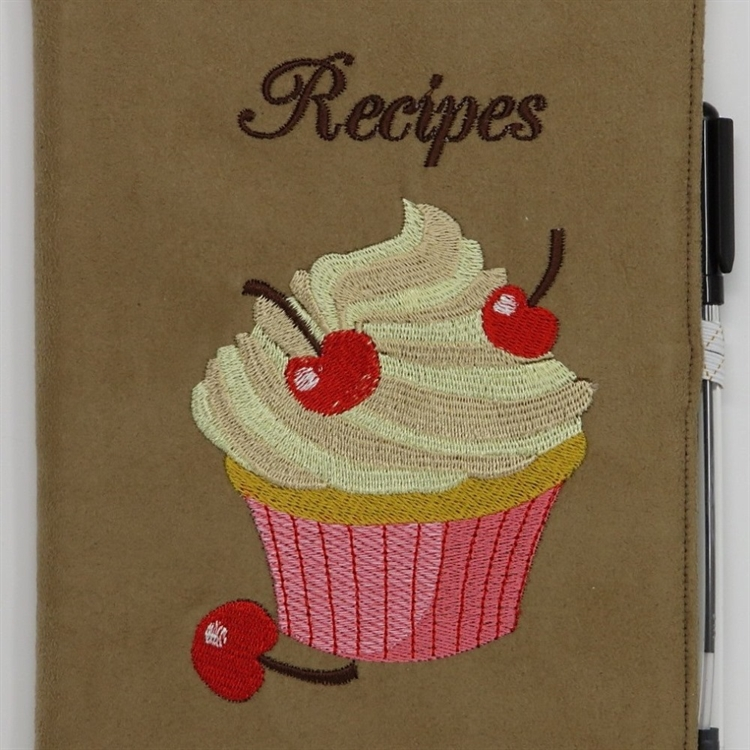 Cherry Cupcake Recipes A5 Notebook