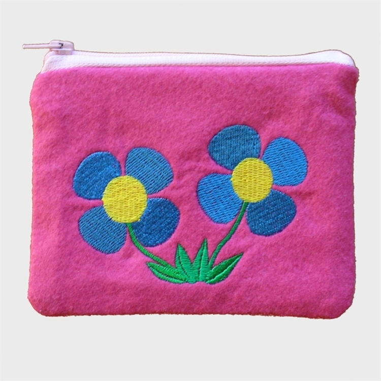 Blue Flowers Purse