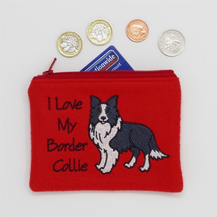 I Love My Border Collie Purse