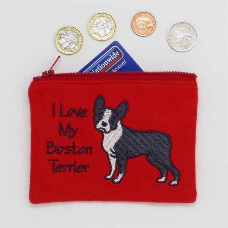 I Love My Boston Terrier Purse