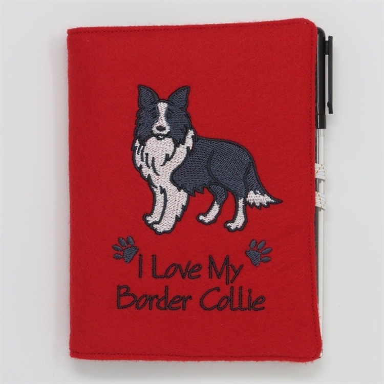 I Love My Border Collie A6 Notebook