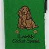 I Love My Cocker Spaniel A6 Notebook
