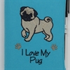 I Love My Pug A6 Notebook